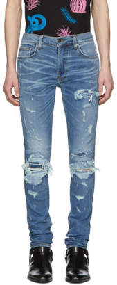 Amiri Indigo Super Repair Jeans