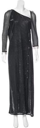 Gianfranco Ferre Semi-Sheer Maxi Dress