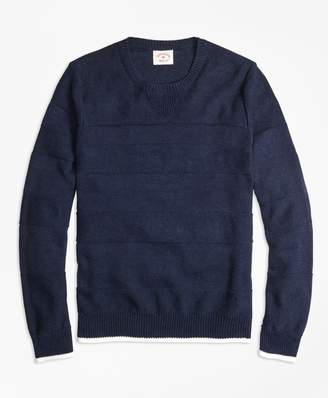 Brooks Brothers Ribbed Textured Crewneck Sweater