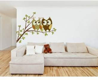 Mural Style and Apply Love Owls II Wall Decal - wall print decal, sticker, vinyl art home decor - DS 850 - 20in x 15in