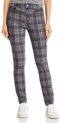 Paige Hoxton Ultra Skinny Jeans in Black Atlantic Tartan Plain