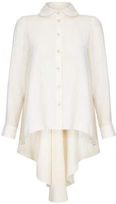 RAAB - Mon White Peplum Shirt