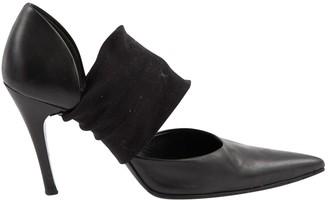 Helmut Lang Black Leather Heels