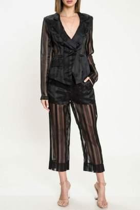 Latiste Black Sheer Suit