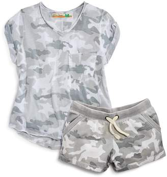 Vintage Havana Girls' Camo-Print Terry Shorts
