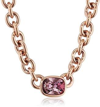 Dyrberg/Kern Women's Elisa 15/02/RG Ant Rose Necklace Partially Gold-Plated Brass Crystal Pink 5.7 cm – 337641
