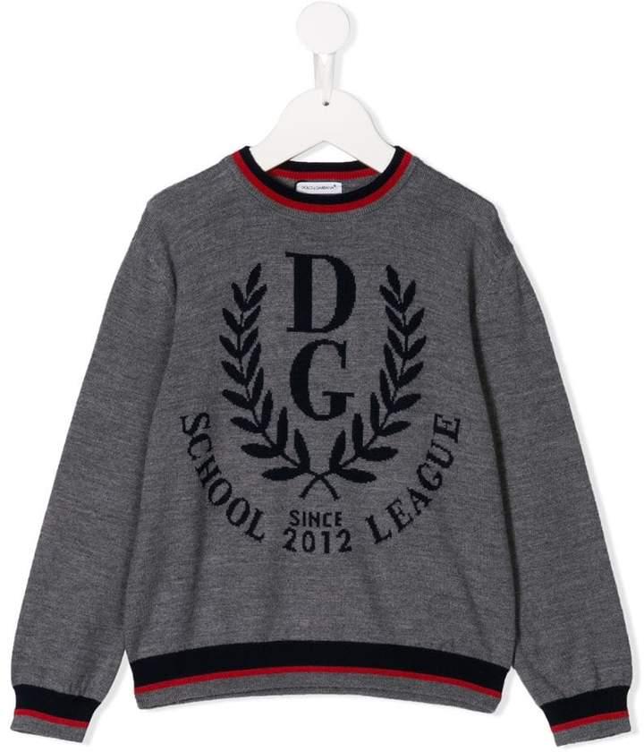 Dolce & Gabbana Kids logo varsity jumper