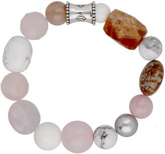 "Elyse Ryan Sterling Blush Gemstone ""Wrist Rocks"" Bracelet"