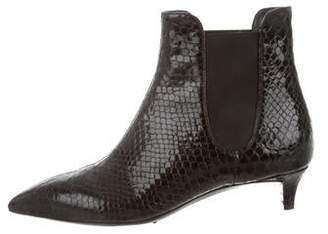 Giuseppe Zanotti Embossed Leather Pointed-Toe Booties