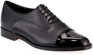 Manolo Blahnik Rodita Cap-Toe Leather Oxfords