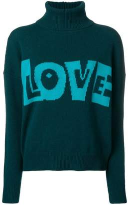 P.A.R.O.S.H. Love slogan roll-neck sweater