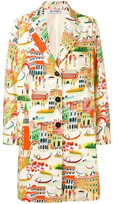 Barena village print coat
