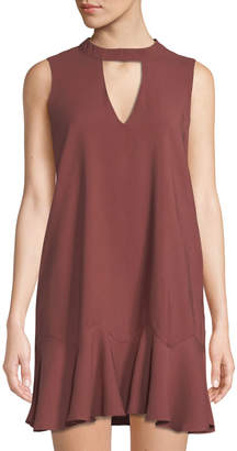 J.o.a. Sleeveless Trapeze Mini Dress