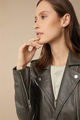 Witchery Zip Leather Jacket