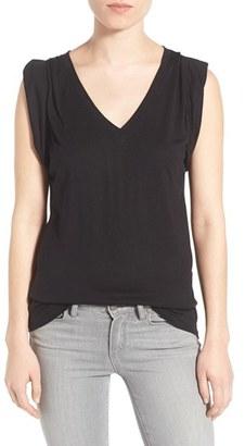 Women's Trouve Shoulder Pleat Sleeveless Tee $39 thestylecure.com
