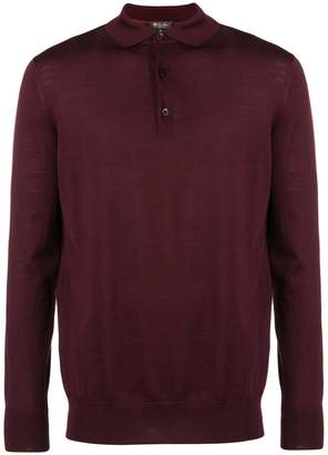 Loro Piana long-sleeve polo shirt