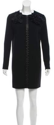 Lanvin Zip-Up Knit Dress