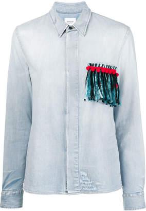 Dondup fringed pocket denim shirt