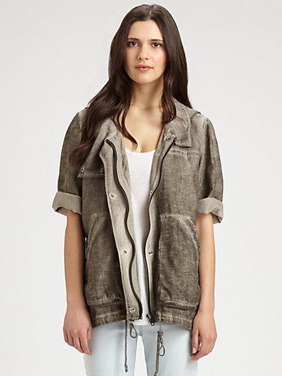 Helmut Lang HELMUT Cotton & Silk Cargo Jacket