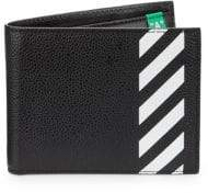 Off-White Diagonal Graphic Leather Billfold Wallet