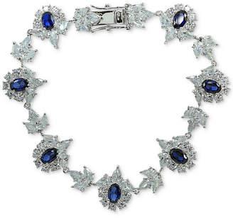 Giani Bernini Cubic Zirconia Cluster Link Bracelet in Sterling Silver