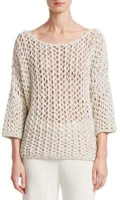 Gentry Portofino Woven Open Back Sweater