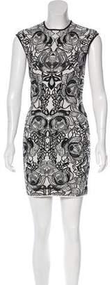 Alexander McQueen Embroidered Mini Dress