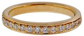 Yellow Gold 0.30ct Diamond Band Bead Set Pave Ring Size 6.5