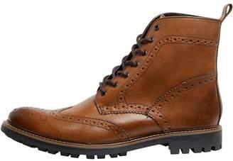 Base London Mens Lisbon Brogue Boots Waxy Tan