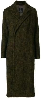 Yohji Yamamoto PRE-OWNED long concealed fastening coat