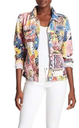 Lauren Hansen Floral Print Trucker Jacket