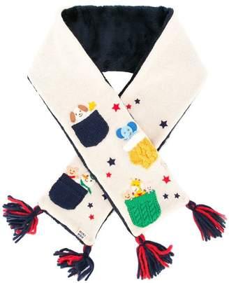 Mikihouse Miki House knit design scarf