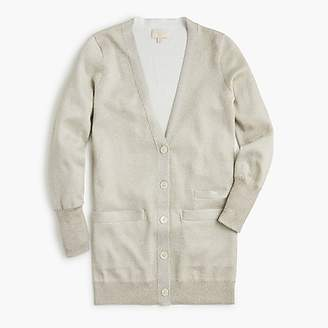 J.Crew Collection long cardigan sweater in double-knit Lurex®