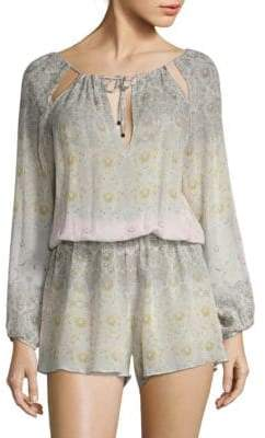 Road Maria Silk Blouson Cover-Up