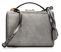Mark Cross Women's Small Metallic Caviar Leather Box Bag