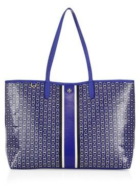Tory Burch Gemini Link Coated Canvas Tote $195 thestylecure.com