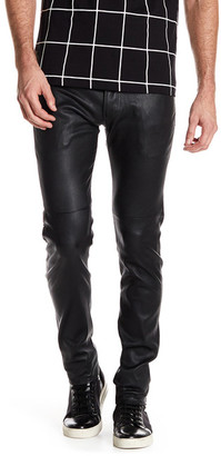 AG Dylan Genuine Leather Slim Skinny Pant $998 thestylecure.com