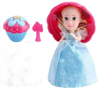 Evursua Transform Cupcake Doll with Surprise,Scented Mini Princess Dolls,Magic Gift Toys for 3 Year Old Girls