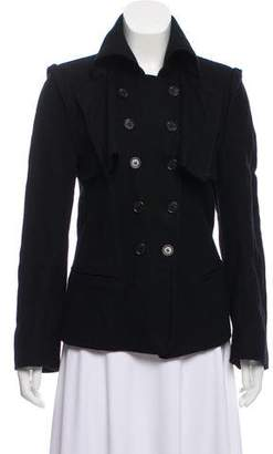 Ann Demeulemeester Woven Double-Breasted Jacket