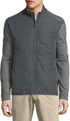 Perry Ellis Callaway Quilted Zip-Front Fleece Jacket