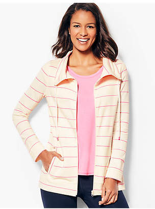 Talbots Cotton Pique Jacket - Stripe