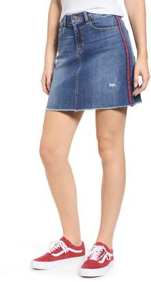 SP Black Ribbon Side Stripe Denim Miniskirt