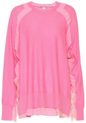 Stella McCartney Ruffled wool and lace sweater