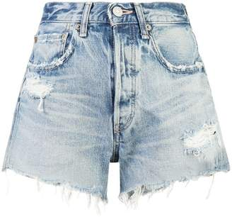 Moussy Vintage distressed effect shorts