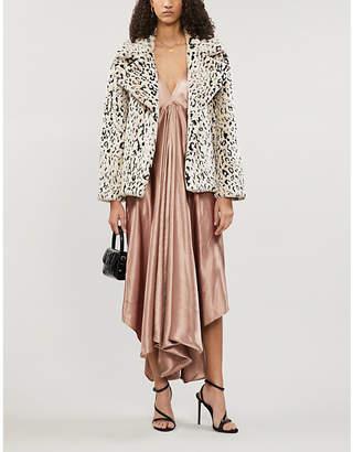 Diane von Furstenberg Leopard-print boxy-fit faux-fur jacket
