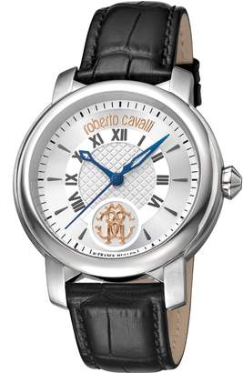 Roberto Cavalli by Franck Muller Rotondo Leather Strap Watch, 43mm