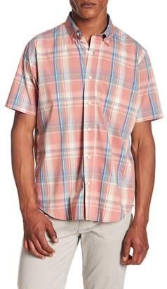 Tailor Vintage Plaid Print Performance Stretch Shirt