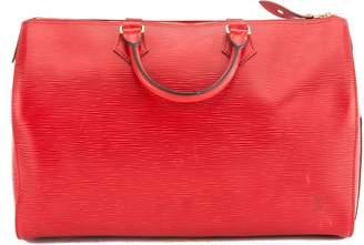 Louis Vuitton Castillian Red Epi Leather Speedy 35 Bag (Pre Owned)