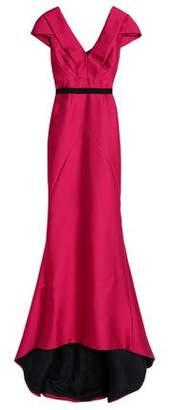 J. Mendel J.mendel Woven-Trimmed Gathered Duchesse-Satin Gown