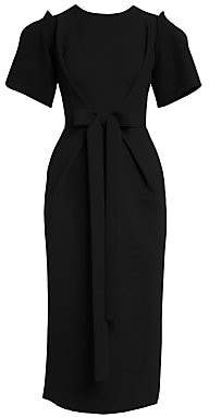ebfa7ce0ba16 Dolce & Gabbana Women's Double Crepe Bow-Detail Midi Dress